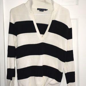 Ralph Lauren Striped Collared Sweater - size L